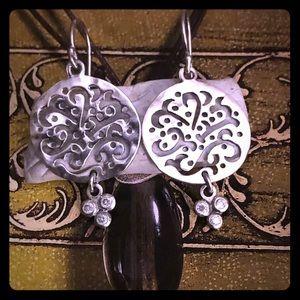 Silpada Sterling Silver Cut Above Earrings